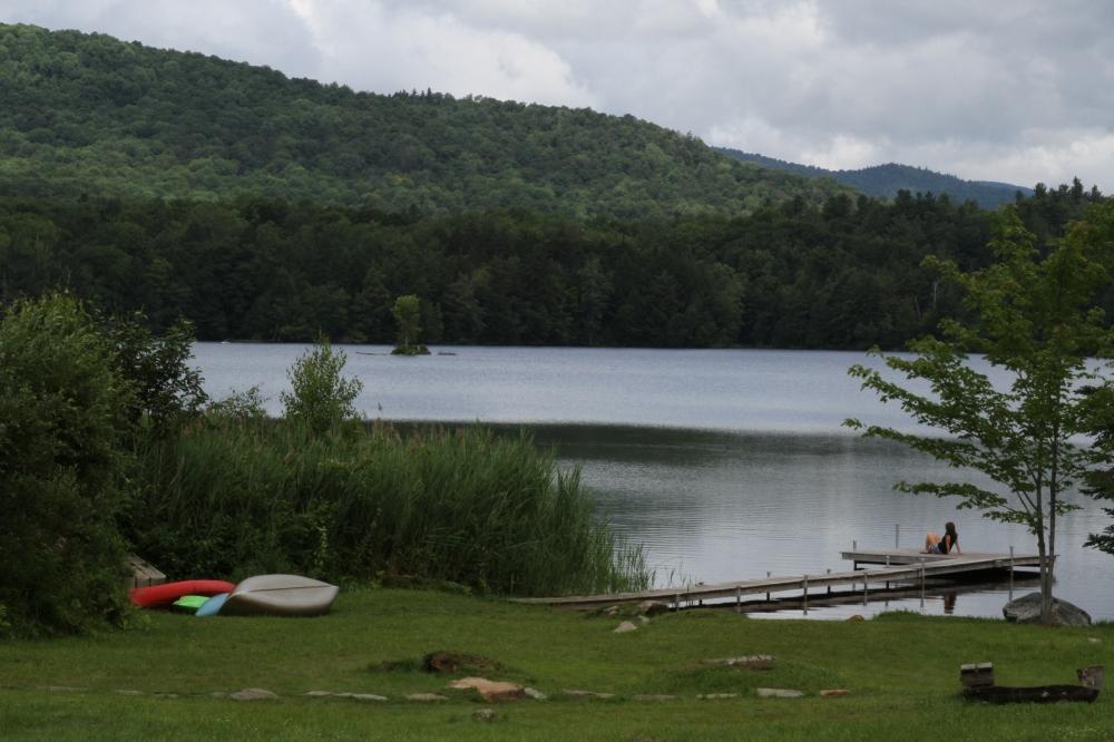 Lake and Admirer